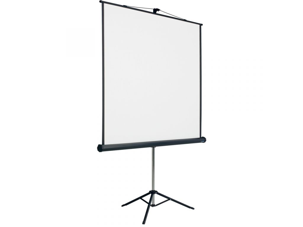 Peinture Pour Ecran Retroprojecteur smit visual Écran de projection 153x153cm trépied (1:1) toile blanc mat