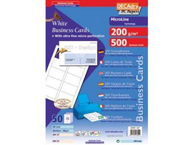 Cartes De Visite Microline Ft 85 X 54 Mm 200 G M 500